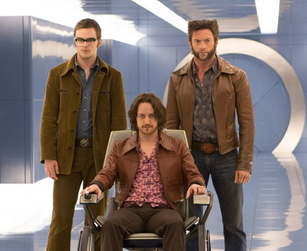 """James McAvoy, Hugh Jackman und Nicholas Hoult auf dem ersten offiziellen Bild aus """"X-Men: Days of Future Past"""""""