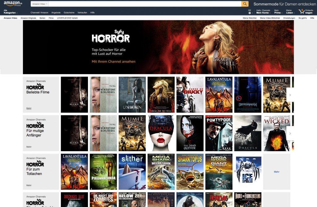 Amazon Channels, Syfy Horror