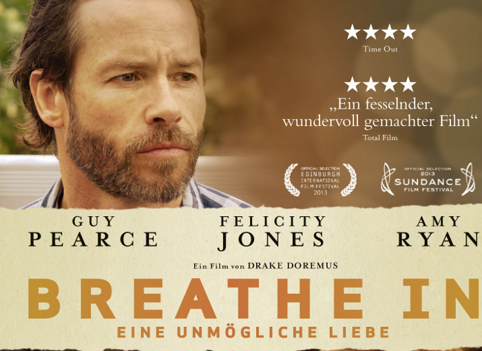 """Guy Pearce verliebt sich in deutlich jüngere Felicity Jones: Deutscher Trailer zu """"Breathe In"""""""