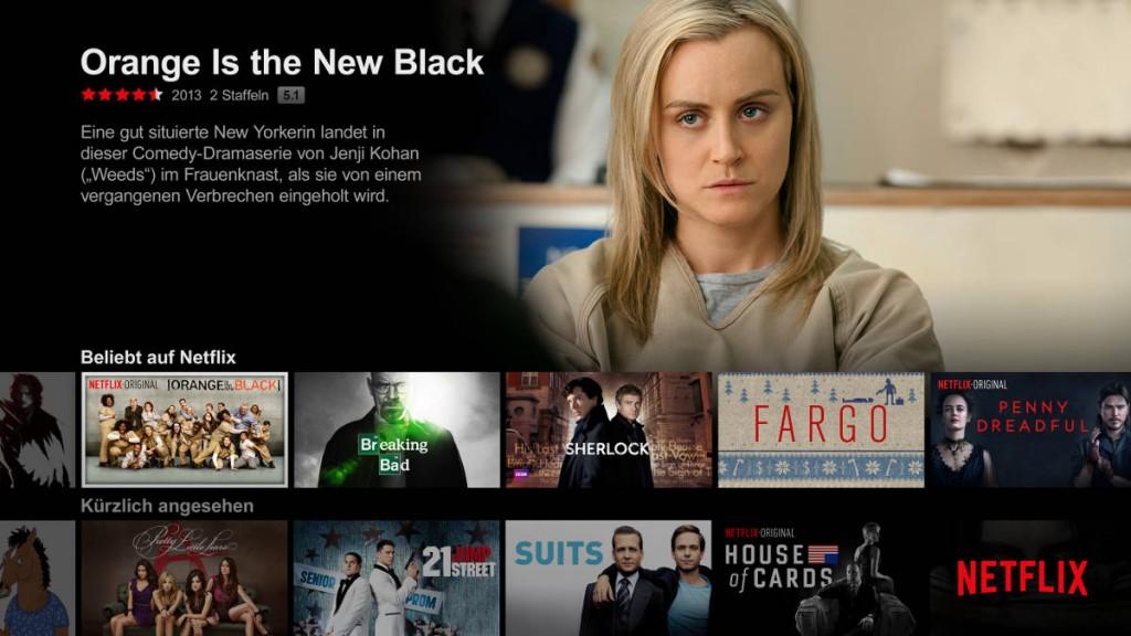 Netflix Deutschland , TV-Ansicht, © Netflix