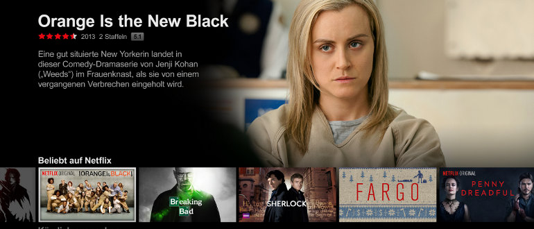 Netflix Deutschland im Test: Viele exklusive Serien und 4K Stream
