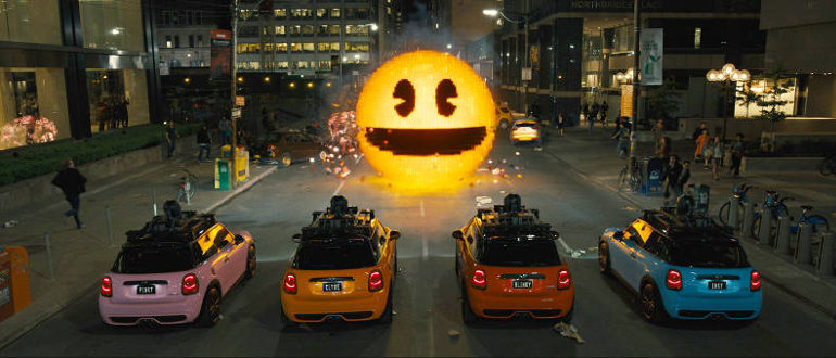 Kinostarts 30. Juli 2015: Pac-Man, Donkey Kong und co. greifen als Pixel die Erde an